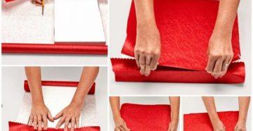 Как завернуть картину в подарочную бумагу
