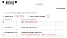 Образец заполнения формы р21001 в 2019 году для ип